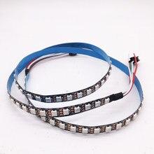 Bande lumineuse RGB Led intelligente, adressable individuellement, noir/blanc, PCB, étanche IP30/65/67, 1m 96 diodes/M DC 5V WS2812B WS2812