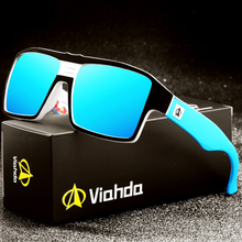Viahda óculos de sol polarizado para homens e mulheres, novo óculos de sol unissex, polarizado, retrô, marca de designer de luxo