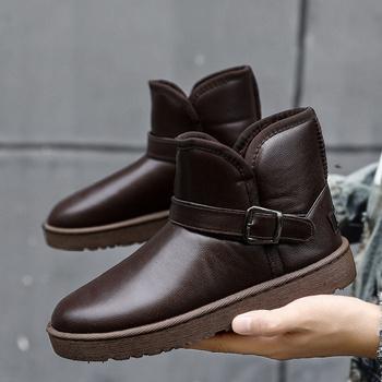 Buty zimowe buty męskie buty sportowe buty buty buty za kostkę Botas Chaussure Homme tanie i dobre opinie yunyiwa Buty motocyklowe CN (pochodzenie) ANKLE Mieszane kolory Dla osób dorosłych SKÓRA KLEJONA ZAOKRĄGLONY PRZÓD