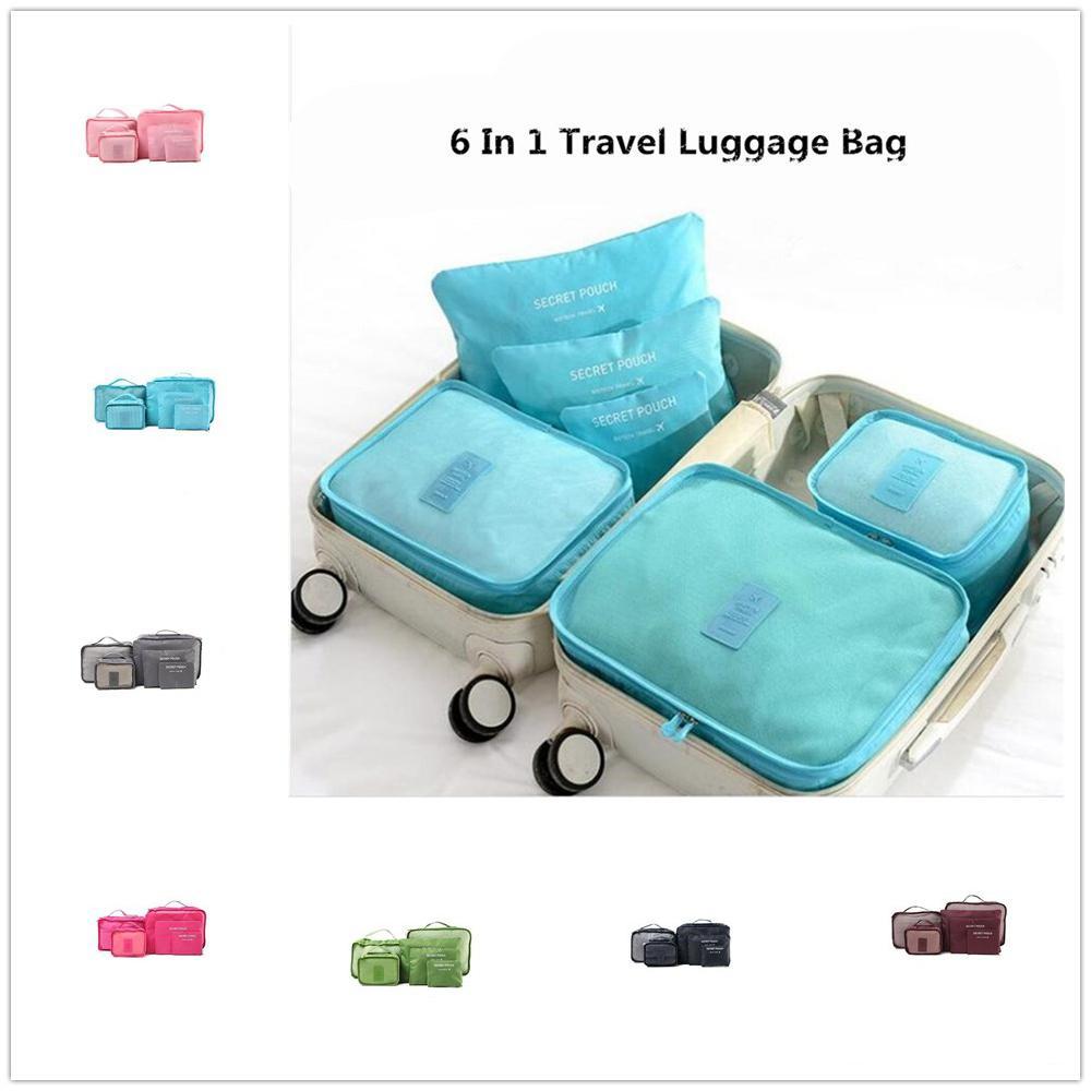 MeterMall 6pcs/set Wear-resistant Travel Storage Luggage Organize Bag Underwear Sort Bag