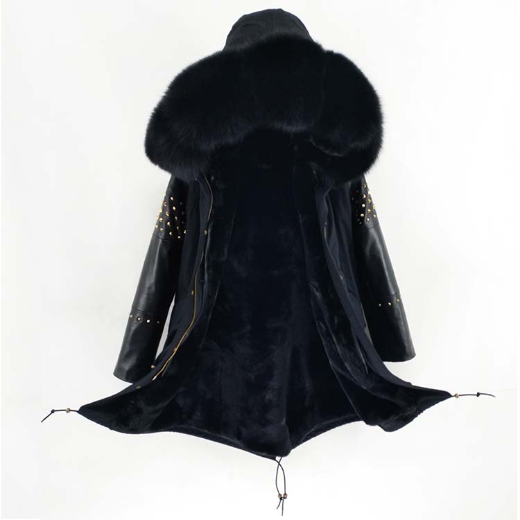 Real Leather Fur Long 25