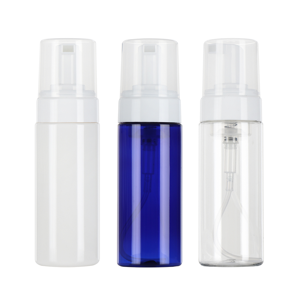 50/ 80 / 100 / 150 ML Clear Blue Foaming Bottle Liquid Soap Whipped Mousse Points Bottling Shampoo Lotion Shower Gel Foam Pump