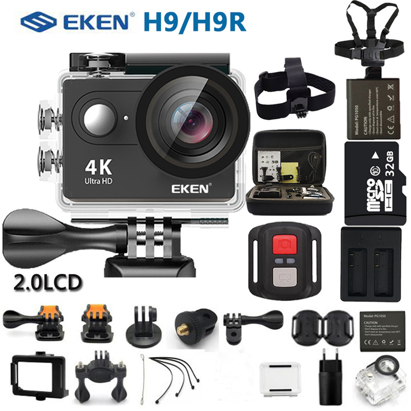 EKEN Action Camera eken H9R/H9 Ultra HD 4K WiFi Controle Remoto Sports Video Camcorder DVR DV À Prova D' Água câmera