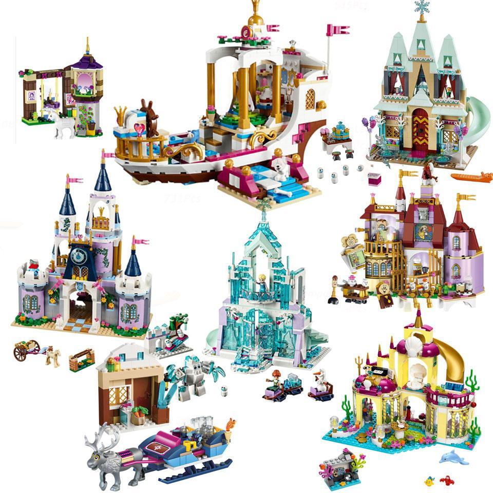 DISNEY Bricks Lepining Girl Princess Disneye Princess Friend Series Building Blocks frozeninglys Model Toys Children Girl Gift