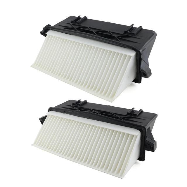 AP02 par de filtro de aire de izquierda y derecha para Mercedes Benz OM642 S350 ML350 ML300 GL320 GL350 E350 E300 C350 C300 CDI 4matic