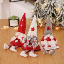 Christmas decoration articles European and American wind no face doll girl window elderly display