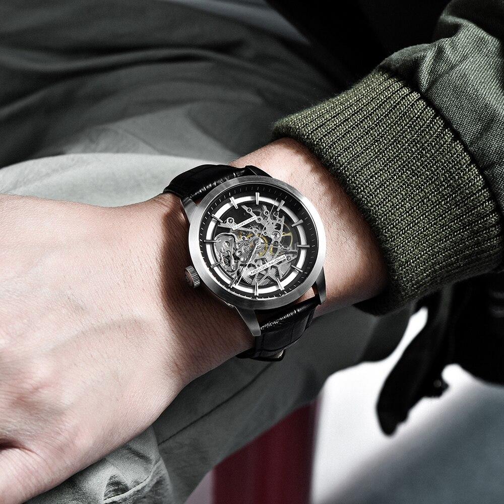 PAGANI DESIGN Brand Hot Sale 2020 Skeleton Hollow Leather Men's Wrist Watches Luxury Mechanical Male Clock New Relogio Masculino