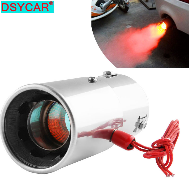 Universal Stainless Steel Car Muffler Tip Exhaust Tail Pipe Throat Car Truck SUV