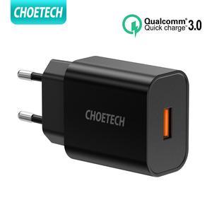 Image 1 - CHOETECH 빠른 충전 3.0 QC 18W USB 충전기 QC3.0 빠른 벽 충전기 삼성 s10 Xiaomi 아이폰 화웨이 휴대 전화 충전기