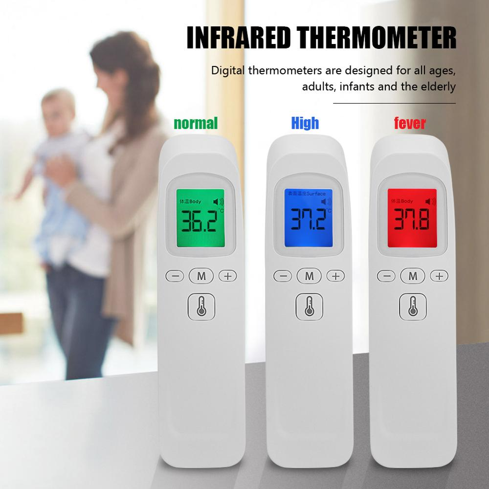 Non Contact Baby Forehead Infrared Thermometer With LCD Backlight Portable Digital Body Temperature Fever Measure Tool For Adult