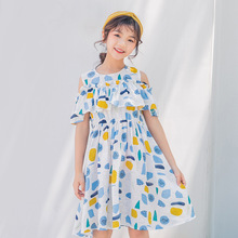 Teen Kids Dresses for Girls Clothes Summer Floral Ruffle Bohemia Dress Children's Princess Dress Kids Outfits 10 12 14 Years teen girls summer dress floral print off shoulder fashion chiffon dress bohemian holiday kids dress for 9 10 11 12 14 16 years