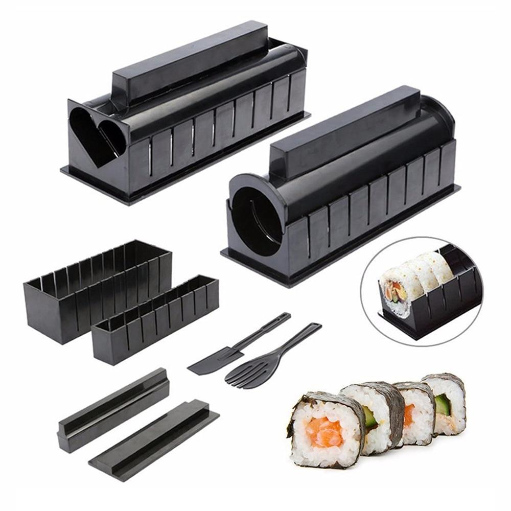 One Set DIY Sushi Making Kit Roll Sushi Maker Rice Roll Mold Kitchen Sushi Tools Japanese Sushi Cooking Tools Kitchen Tools