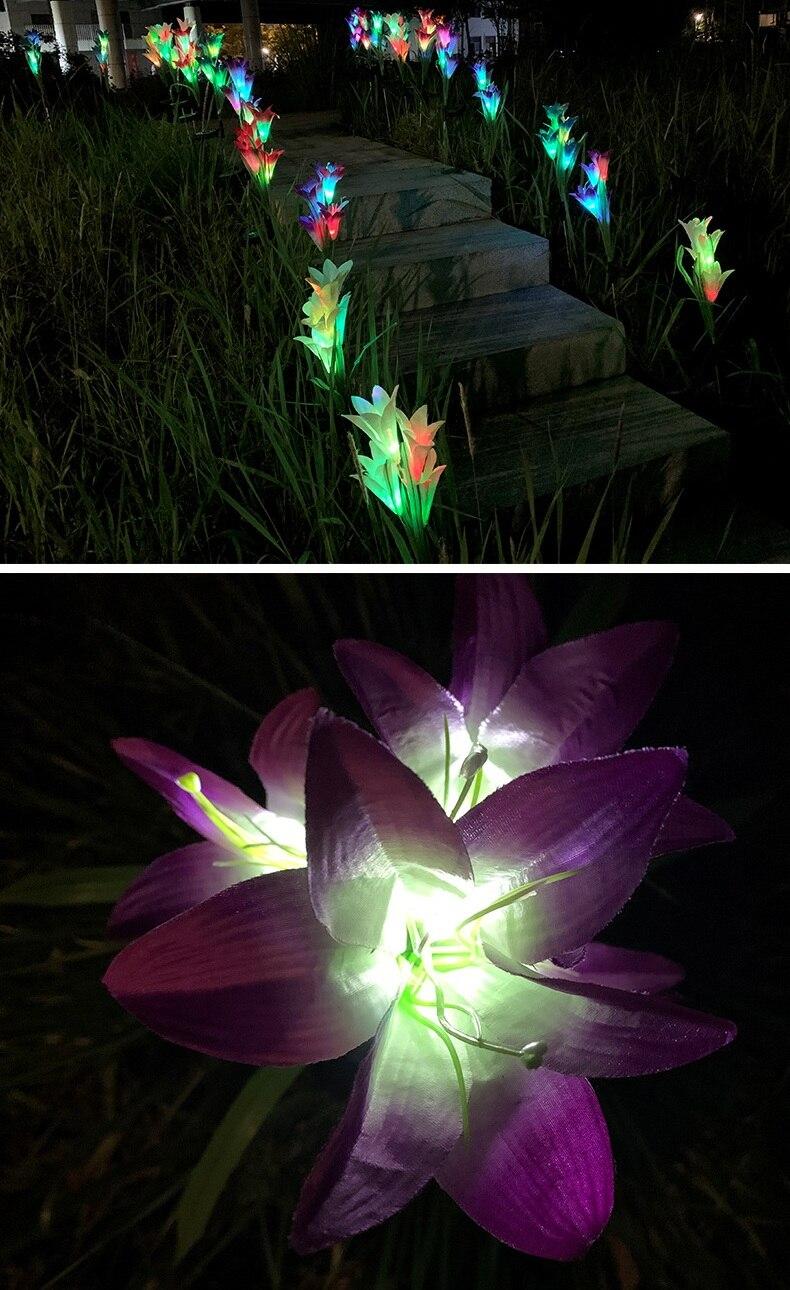flor lâmpada ao ar livre para jardim