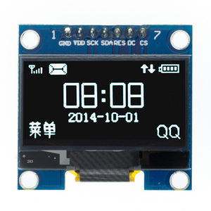 "Image 5 - 10pcs 1.3 inch OLED module white/blue  SPI/IIC I2C Communicate color 128X64 1.3 inch OLED LCD LED Display Module 1.3""OLED module"