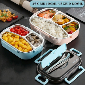 Japanese Bento Lunch Box Kids Insulated Food Container Leakproof Student Compartments Thermal Lunch Box for adults
