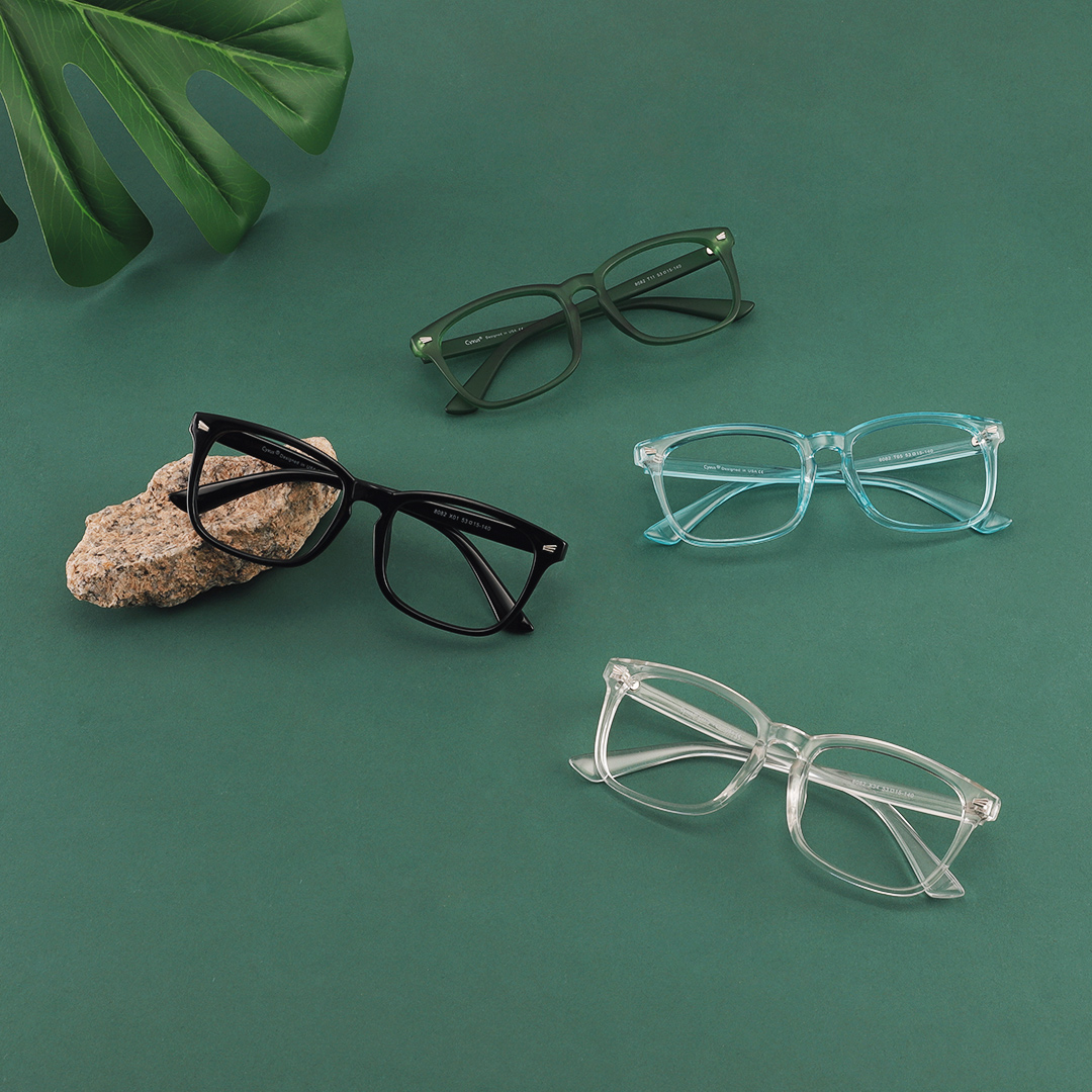 Glasses - Cyxus Blue Light Blocking Computer Glasses Anti UV Fatigue Headache Eyeglasses Clear Lens Gaming Eyewear for Men and Women