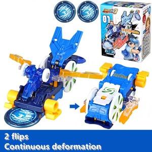 Image 1 - Screechers wild burst flips, pegatinas de transformación, figuras de acción de anime de robot, chip de captura de cazador, oblea, juguetes para niños y niñas