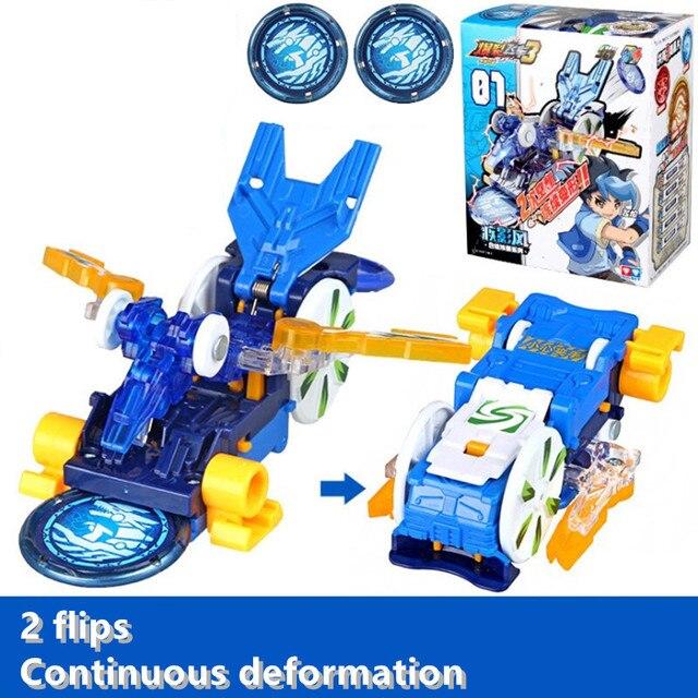 Screechers wild burst flips, pegatinas de transformación, figuras de acción de anime de robot, chip de captura de cazador, oblea, juguetes para niños y niñas