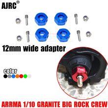ARRMA-1/10 granit büyük kaya ekip SENTON kısa kulvar alüminyum alaşımlı 12MM Hex adaptörü 7MM kalınlığında AR310779