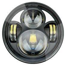 Светодиодный фонарь 5,75 дюйма для дальнего ближнего света с кронштейном для Yamaha Bolt Raider Stryker SCR950 Warrior