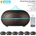 400 мл Арома диффузор для эфирных масел, ультразвуковой увлажнитель воздуха для Xiomi Redmi с древесины дистанционного Управление для домашнего о...