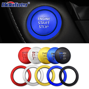 Doofoto Car Sticker Start Stop Button Protective Cover Ring For Toyota Corolla Camry CHR GT86 Rav4 Yaris FT86 FR-S Accessories image