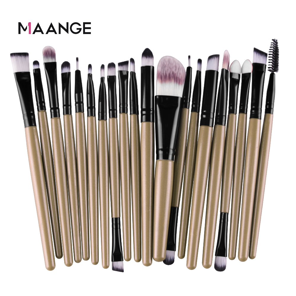 MAANGE 6/15/20 Pcs Makeup Brush Set Eyeshadow Blending Foundation Powder Eyebrow Blush Double Head Brush Beauty Make Up Kit Tool 6