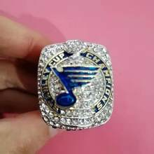 2019 Ice Hockey St. Louis Blues Bruce Stanley world champion rings for women men's ring men jewelry big ring bagues pour femme(China)