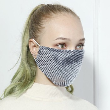 Fashion Cotton Sequin Mask Anti-Haze Shining Party Activated carbon Windproof Mouth muffle bacteria proof Flu Face masks