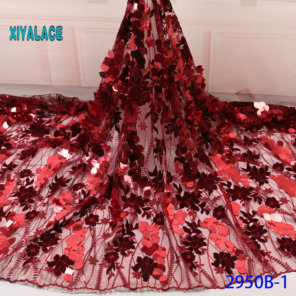 2019 African Lace Embroidered High Quality Switzerland Lace Ftench Lace Agrican Net Fabric French Bridal Lace For Dress YA2950B1