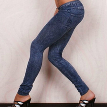 Leggings Pencil-Pants Spring Denim-Trousers Elastic Washed Skinny Slim Stretchy High-Waist