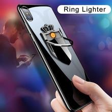Ring-Buckle-Lighter Cigarette-Lighter-Accessories Usb-Car-Holder Charging Mobile-Phone