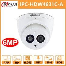 Dahua CCTV IP Kamera DH IPC HDW4631C EINE Gebaut In Mic POE dome Sicherheit Kamera IR30M Metall shell Onvif ersetzen IPC HDW4431C A