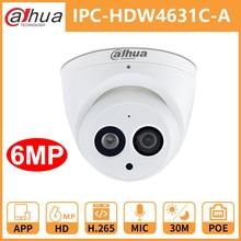 Dahua CCTV caméra IP DH IPC HDW4631C A intégré micro POE dôme caméra de sécurité IR30M coque métallique Onvif remplacer IPC HDW4431C A