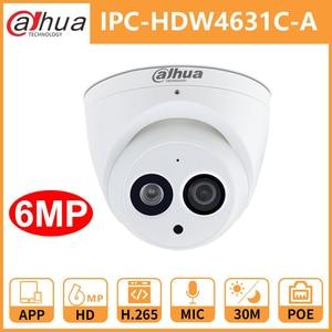 Image 1 - Dahua טלוויזיה במעגל סגור IP מצלמה DH IPC HDW4631C A מיקרופון מובנה POE כיפת אבטחת מצלמה IR30M מתכת מעטפת Onvif להחליף IPC HDW4431C A
