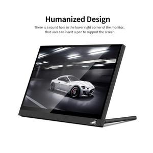 Image 3 - Przenośny Monitor 12.5 Monitor LED HD 1080P ekran rozszerzający do przełącznika/PS4/PC/laptopa (z ekranem dotykowym/wtyczką amerykańską baterii)