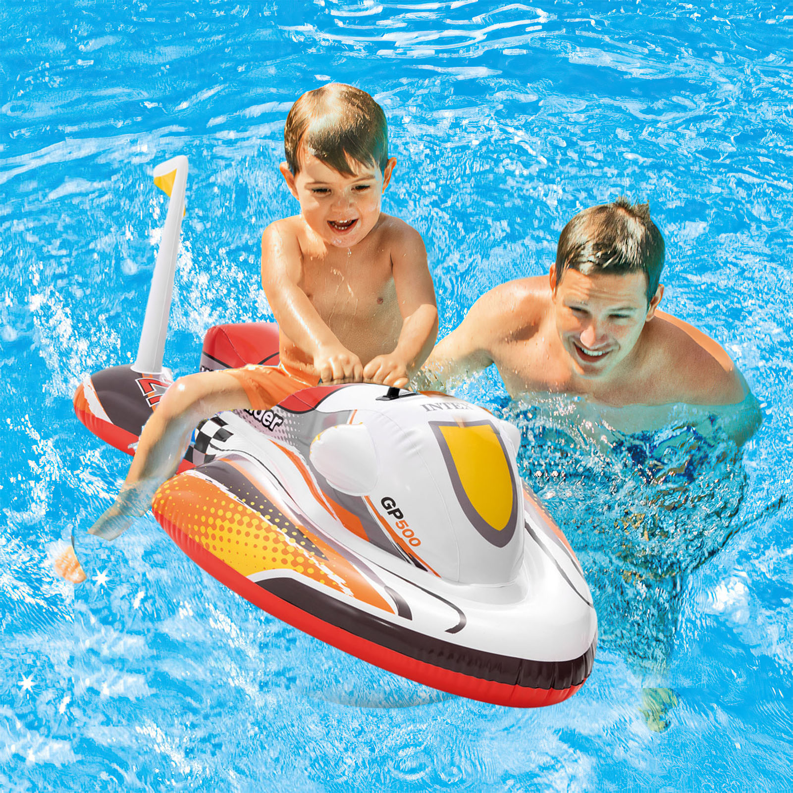 Summer Swimming Float Water Scooter Inflatable Pool Float Kids Floating Water Party Toy Kids Swim Pool Accessories Circle Rings
