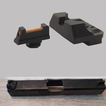 Sight Set .230 Fiber Optic Front Sights and Rear Sight Set for Glock Rollerball MFAW 17S Handgun фото