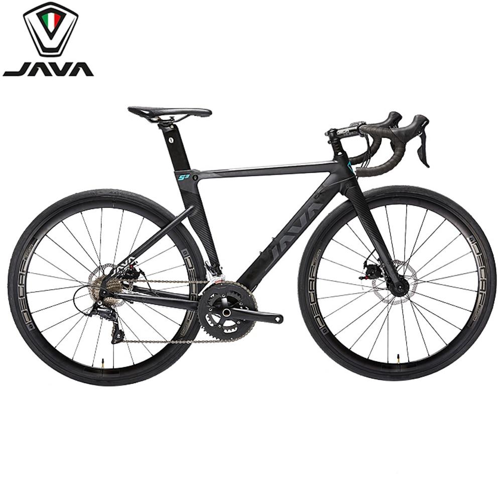 JAVA Siluro3 алюминиевый сплав дорожный велосипед двойной дисковый тормоз 18 скоростей SORA R3000 углеродная вилка переключения