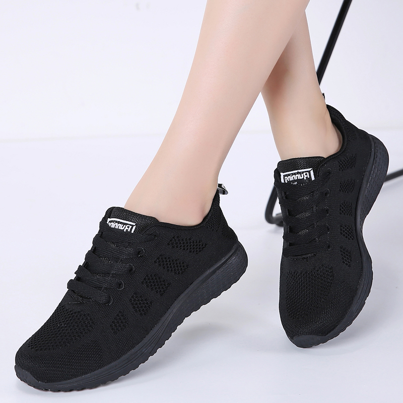 TKN Sneakers Women Running Shoes Sport Casual Lace-up Breathable Mesh Sneakers Ladies Running Sneakers Woman Walking Shoes A08
