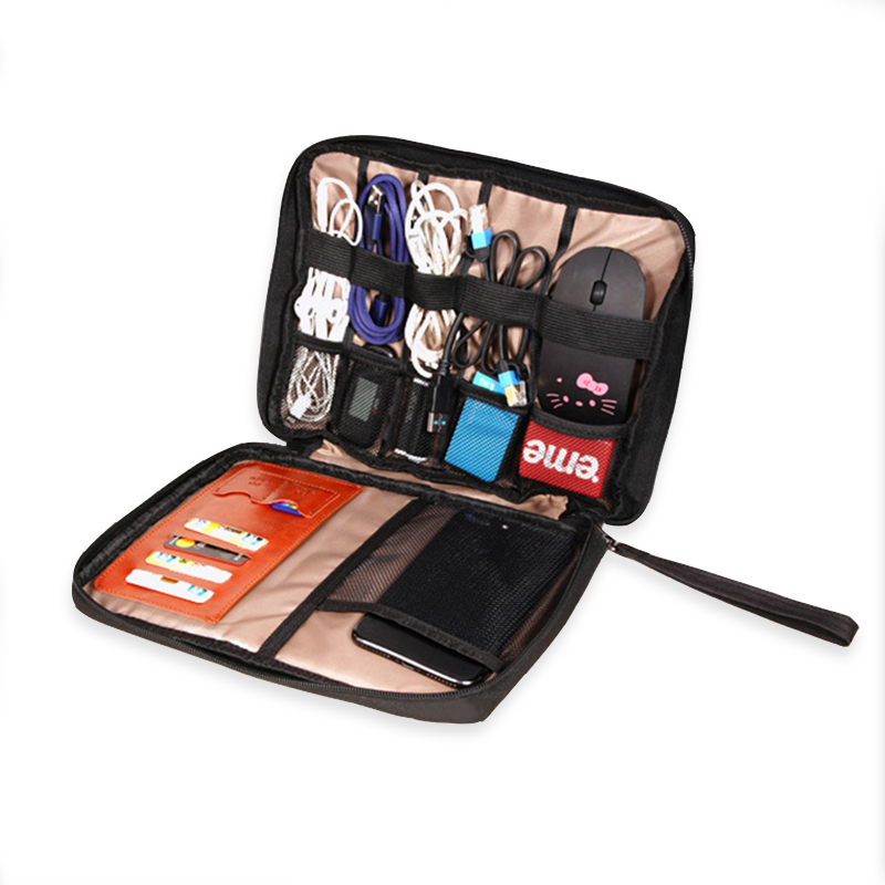 Wild Key Coin Package Mini Felt Pouch Earphone Bank Data Cable Travel Organizer