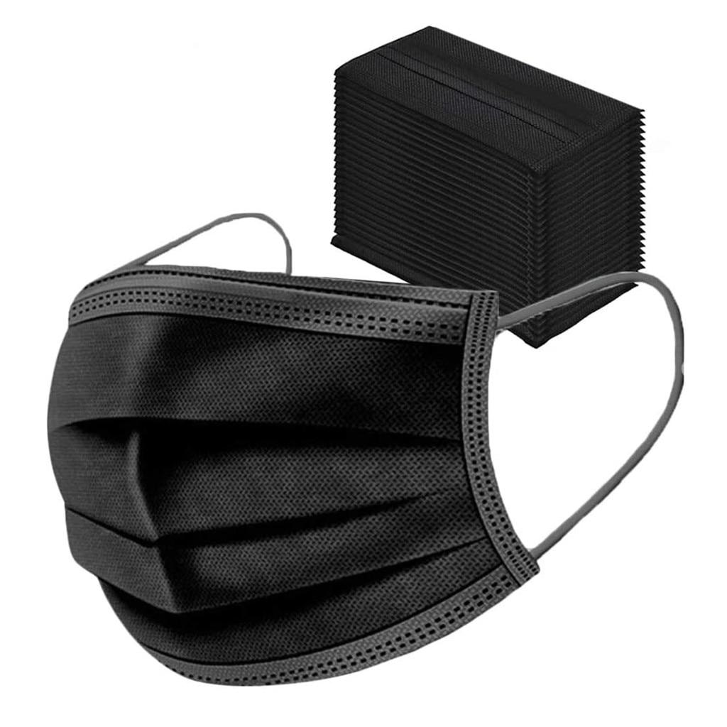 2021 Mаска 30 шт маска для лица защитные перчатки Mascarillas quirúrgicas Nonwove 3 Слои слоя маска для лица на покрытие, для активного отдыха, маски