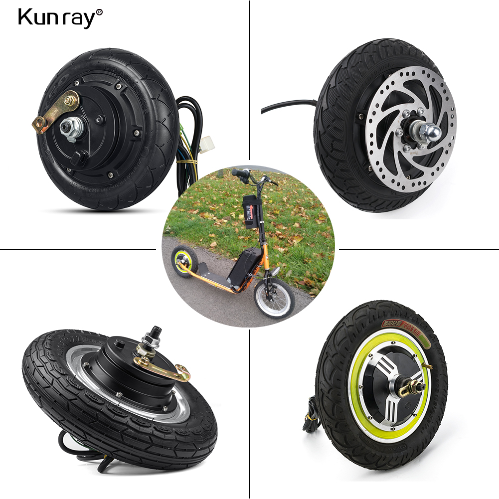 "Electric Scooter Hub Wheel Motor 24//36//48V DC Brushless Toothless 8/"" Wheel 350W"