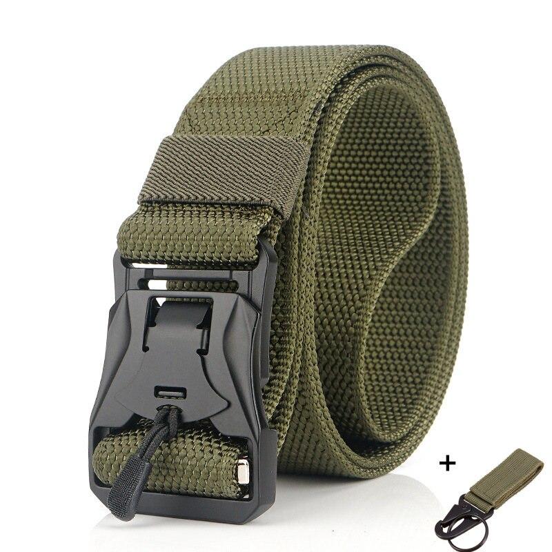 Военный инвентарь армейские тактические ремни для мужчин США армейский тренировочный нейлоновый пояс с металлической пряжкой пояс для охоты на открытом воздухе - Цвет: green2