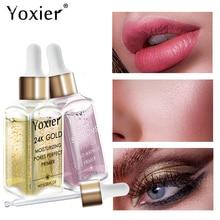 Yoxier איפור בסיס לחות מהות 24k זהב Elixir שמן בקרת מקצועי מט סרום סדרת מותג קרן פריימר 1pcs