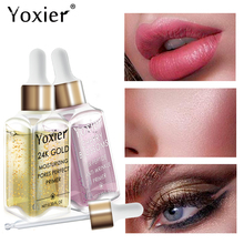 Yoxier makyaj tabanı nemlendirici özü 24k altın Elixir yağ kontrolü profesyonel mat Serum serisi marka vakfı astar 1 adet