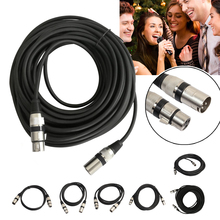 1m/1.8m/3m 3 Pin XLR Microphone Cable Male to Female 3 Way XLR Plug to XLR Socket Mic Microphone Audio Extension Cord