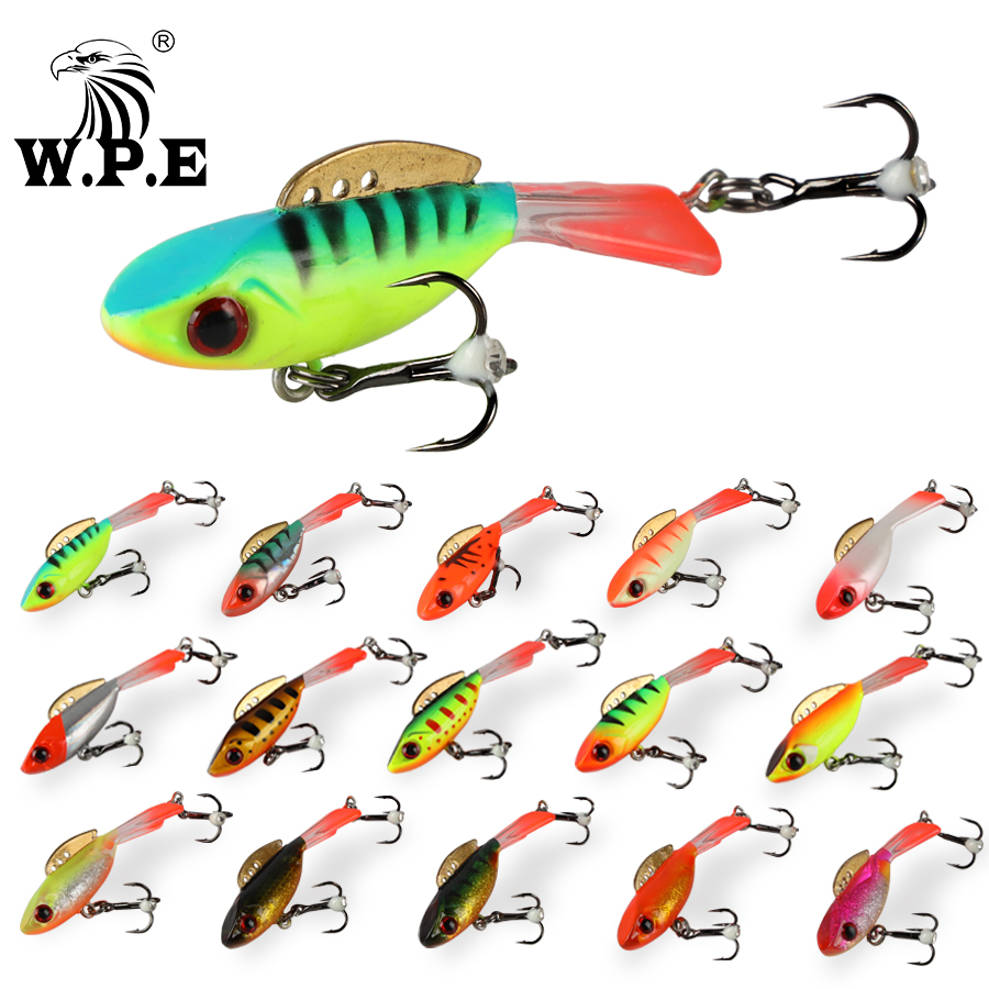 W.P.E Ice Winter Fishing Lure 1pcs 46mm/55mm 15color Hard Lure Balancer Fishing Tackle Lead Jigging Artificial Bait For Ice