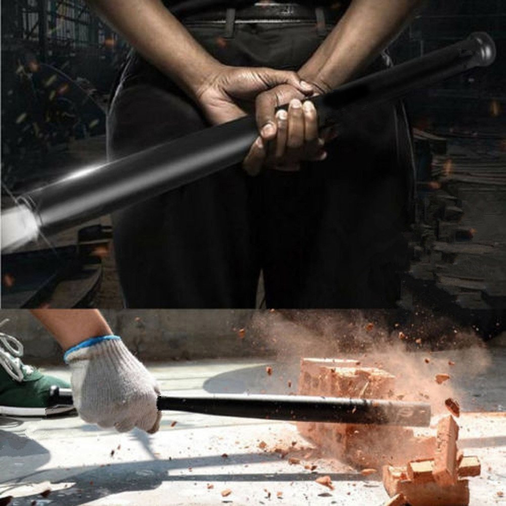 Car Safety Hammer 44cm Baseball Bat LED Flashlight Outdoors Emergency Self Defense Flashlight Stick Anti Riot Safety Equipment