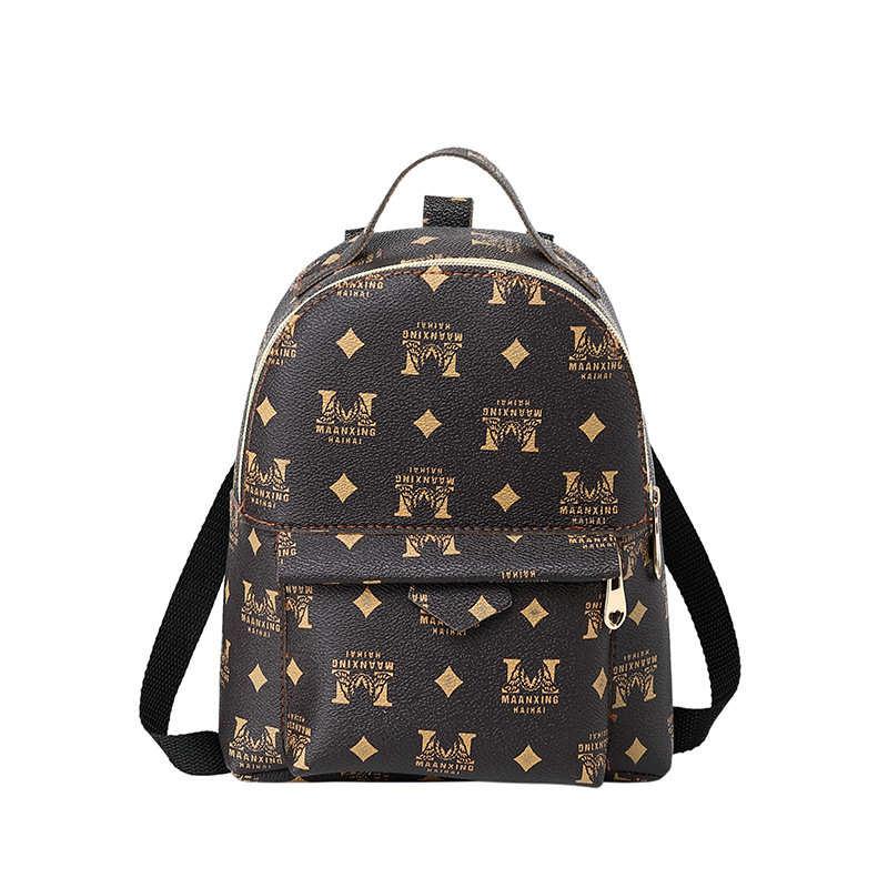 Vento Marea Mini Backpack For Teenage Girls Fashion Letter Women Shoulder Bag Multi-Function Small Bag Pack Female Phone Purses